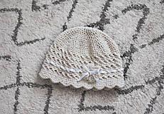 Detské čiapky - Háčkovaná čiapka - 10897079_