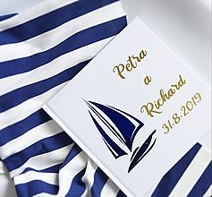 Papiernictvo - Svadobná kniha hostí Nautical - 10895674_