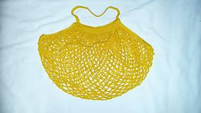 Nákupné tašky - Žltá sieťovka - 10895603_