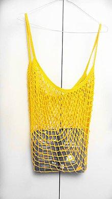 Nákupné tašky - Žltá sieťovka - 10895596_