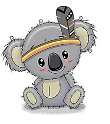 Galantéria - Nažehľovačka Koala indián veľká - 10897097_