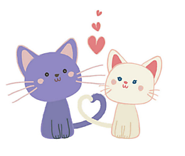 Galantéria - Nažehľovačky Zaľúbené mačky - 10897366_
