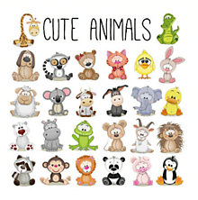 Galantéria - Nažehľovačky Roztomilé mini zvieratká set - 10897475_
