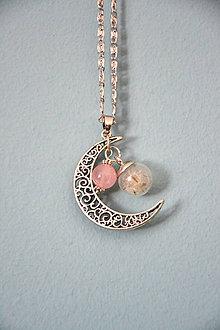 Náhrdelníky - mesiac, retiazka, prívesok - 10894884_