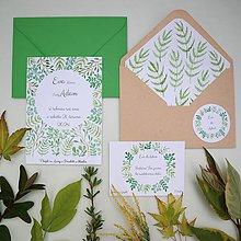 Papiernictvo - Zelené vetvičky - oznámenie - 10895338_