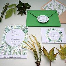 Papiernictvo - Zelené vetvičky - oznámenie - 10895375_