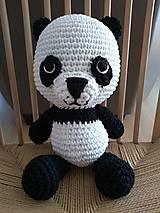 Hračky - Háčkovaná panda - 10897282_