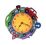 Detské doplnky - Detské nástenné hodiny Autíčka - 10897574_