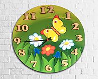 Hodiny - Nástenné maľované hodiny Jaro - 10897582_