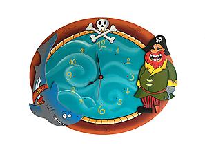 Detské doplnky - Detské nástenné hodiny Pirátske - 10897553_