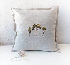 Úžitkový textil - Vyšívaný povlak na vanúš Letné stromy - 10894785_