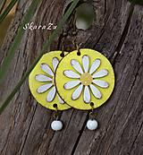 Náušnice - Sedmokráska v žltej - 10897279_