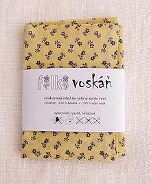 Úžitkový textil - FILKI voskáň - voskované vrecko (bielo-modré veľké vrecko) - 10894323_