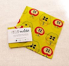 Úžitkový textil - FILKI voskáň - voskované vrecko (jabĺčkové mini) - 10894326_