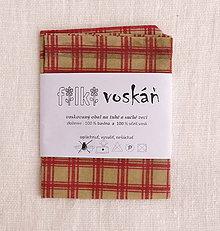 Úžitkový textil - FILKI voskáň - voskované vrecko (béžovo-červené) - 10894328_