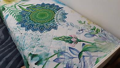 Úžitkový textil - Zelená mandalová deka - 10897132_