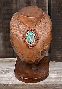 Náhrdelníky - Náhrdelník s kameňom AZURIT •Vesmírna odysea• - 10896729_