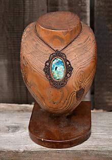 Náhrdelníky - Náhrdelník s kameňom AZURIT •Vesmírna odysea• - 10896759_