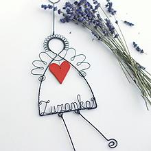 Detské doplnky - anjel s keramickým srdiečkom - 10898511_