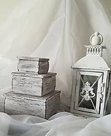 Krabičky - Šperkovnica alebo krabička na vaše drobnosti s nádychom dávnych čias (Malá 7x7x4,5 cm) - 10898525_