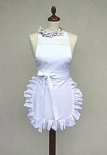 Iné oblečenie - Biela zástera pre nevestu - 10900415_