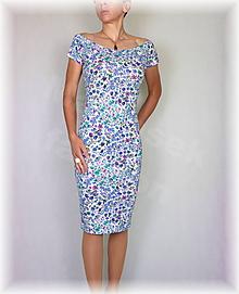 Šaty - Šaty kvítky vz.486 - 10897880_