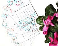 Papiernictvo - Kalendáre A6 na celý rok (PDF na stiahnutie) - 10899068_
