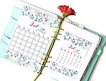 Papiernictvo - Kalendáre A6 na celý rok (PDF na stiahnutie) - 10899069_