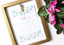Papiernictvo - Kalendáre A6 na celý rok (PDF na stiahnutie) - 10899070_