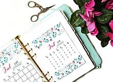 Papiernictvo - Kalendáre A6 na celý rok (PDF na stiahnutie) - 10899071_