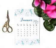 Papiernictvo - Kalendáre A6 na celý rok (PDF na stiahnutie) - 10899073_