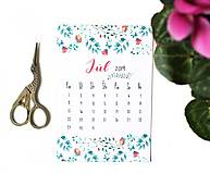 Papiernictvo - Kalendáre A6 na celý rok (PDF na stiahnutie) - 10899074_