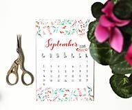 Papiernictvo - Kalendáre A6 na celý rok (PDF na stiahnutie) - 10899075_