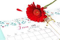 Papiernictvo - Kalendáre A5 na celý rok (PDF na stiahnutie) - 10899092_