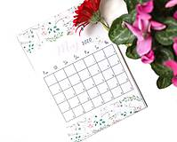 Papiernictvo - Kalendáre A5 na celý rok (PDF na stiahnutie) - 10899097_