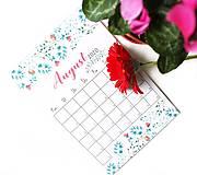 Papiernictvo - Kalendáre A6 +A5 na celý rok (PDF na stiahnutie) - 10899111_