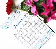 Papiernictvo - Kalendáre A6 +A5 na celý rok (PDF na stiahnutie) - 10899113_