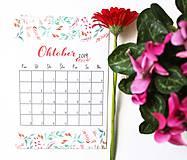 Papiernictvo - Kalendáre A6 +A5 na celý rok (PDF na stiahnutie) - 10899116_
