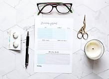 Papiernictvo - Náplň do diára . Habit Tracker + Zoznam Prianí PDF - 10899205_