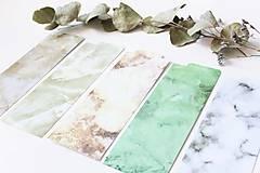Papiernictvo - Laminovaná záložka do diára Marble - 10899229_