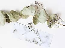 Papiernictvo - Laminovaná záložka do diára Marble - 10899230_
