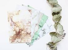 Papiernictvo - Oddeľovače do diára A5, Marble - 10899260_