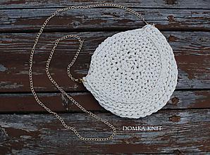 Kabelky - Svetlo béžová háčkovaná kabelka - 10899479_