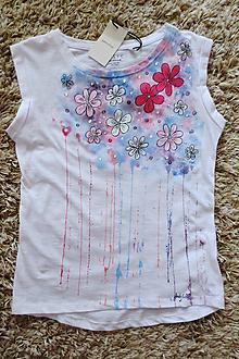 Tričká - Letné tričko - kvetované - 10900196_