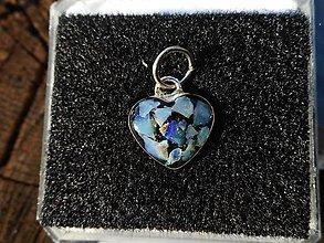 Náhrdelníky - little opal heart for you - 10897604_