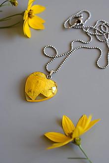 Náhrdelníky - Náhrdelník Žltý iskerník srdce (2633 A CHO) - 10898931_