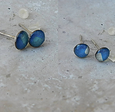 Náušnice - napichovačky modré / 2 páry - 10899370_