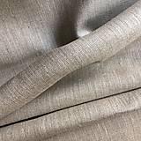 Textil - 100 % predpraný ľan prírodný, šírka 150 cm - 10898050_