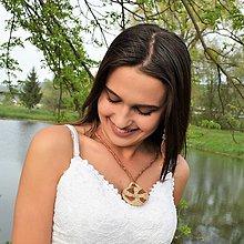 Náhrdelníky - ♥ kožený náhrdelník, egyptský dizajn - 10897821_