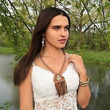 Náhrdelníky - Egyptské oči, Exotický náhrdelník, kožený náhrdelník, náhrdelník s mušľami - 10897834_